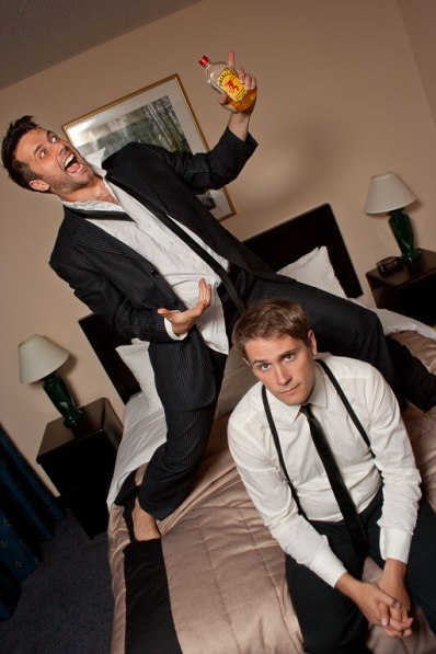 John Voth and Mack Gordon in a publicity photo for The Best, Man. August 2012.