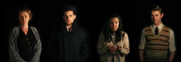 Marilyn Norry, Scott Button, Christine Quintana and Graeme A McComb, publicity photo for The Glass Menagerie, November 2014