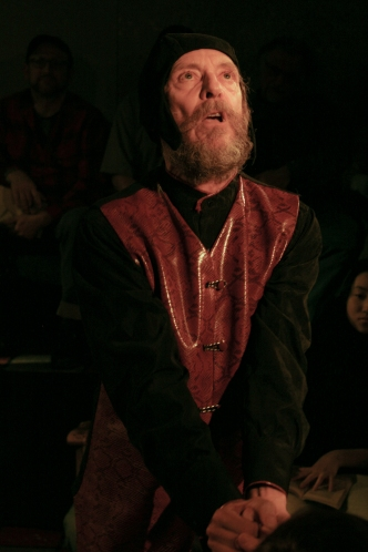 Simon Webb as King Lear in the Honest Fishmongers production, February 2012